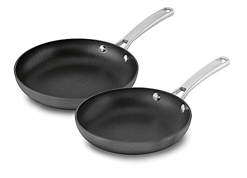 "Calphalon ""Classic Non-Stick Jumbo Fryer Omelet Pan with Lid, 12, Grey Frying Pan 2-Piece grey"