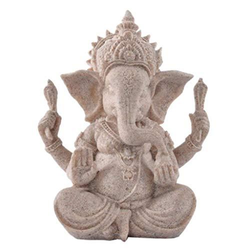 PIERRETOILES Dekofigur Ganesh Buddha Gott Elefant Hindus aus Kies