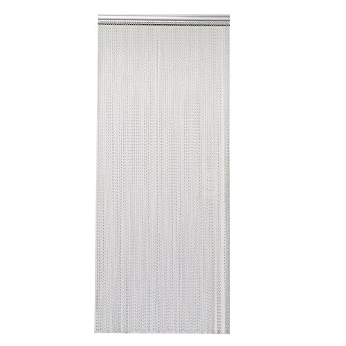 multiware-chain-curtian-alumnium-metal-insect-pest-screen-control-home-commercia-door-screen-silver