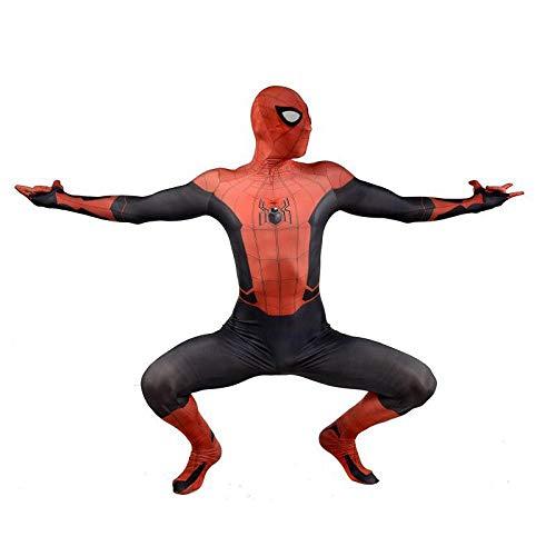 Spiderman Costume for Adult Kids Superhelden Kostüme Kinder Erwachsene,Kostüm Overall 3D Print,Anime Cosplay Kostüm,Adult-M