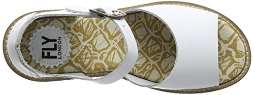 FLY London Clym500fly, Sandales Bride cheville femme Blanc - Weiß (OFFWHITE 006)