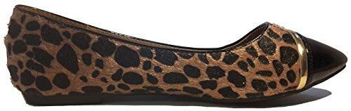 Ballerines douces, orange, noir-blanc-or zèbre, beige, noir, noir multicolor, bleu multicolor, vert brillant, léopard, noir-blanc, élégant et très chique, modèle 11064101001229, mocassins femme. Léopard.