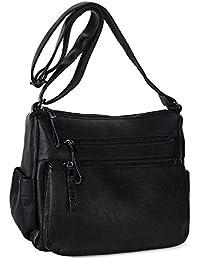 Women s Shoulder Bag Soft Leather Casual Daypack Designer Top-Handle Bag  Vintage Tote Crossbody Shoulder fae6a5711d2fb