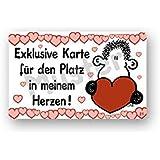 Sheepworld - 57021 - Pocketcard, Exklusive Karte für den Platz in meinem Herzen!, PVC