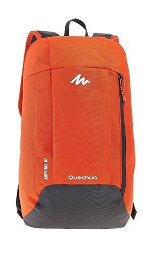 Quechua Premium Quality Ultra compact light weight Back Pack Red and Grey Colour For Hiking and Picnic 10 Lts  available at amazon for Rs.349