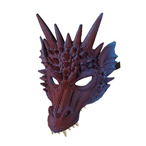 Dreiteilige Drachen Cosplay Requisiten Maske, Flügel und