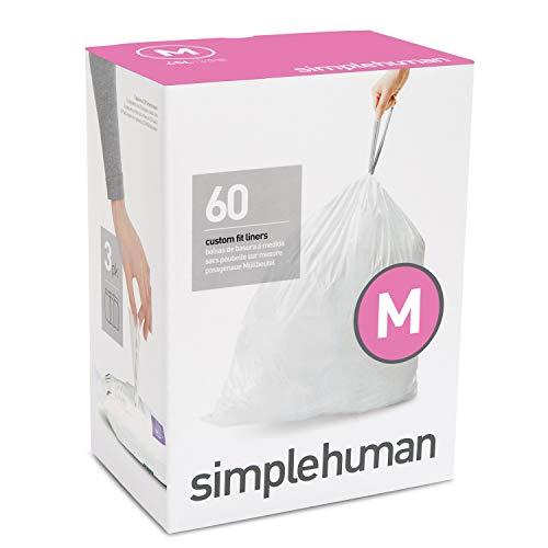 Simplehuman Paquet de 20 sacs poubelle, Blanc, 60 Pack