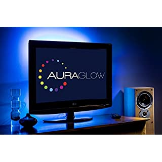 Auraglow Colour Changing 50cm 5v LED Strip USB TV Back Light Lighting Kit
