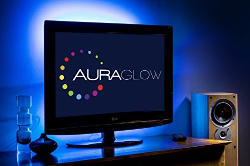 Auraglow Kit Strip LED USB Retroilluminazione TV Cambia Colore 50 cm 5v striscia di LED TV USB Kit di illuminazione Back Light