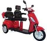 Elektromobil VITA CARE 2000, Seniorenmobil, Senioren, Dreirad, E-Roller E-Scooter mit Straßenzulassung, Elektro-Roller, Rot
