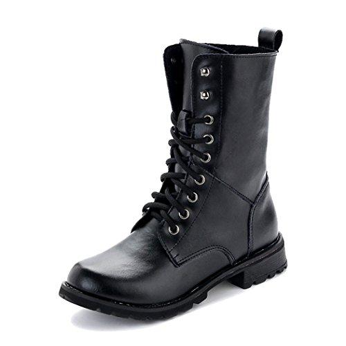 yc-top-stylish-women-martin-boots-lacing-classic-black-short-boots-size-6-uk