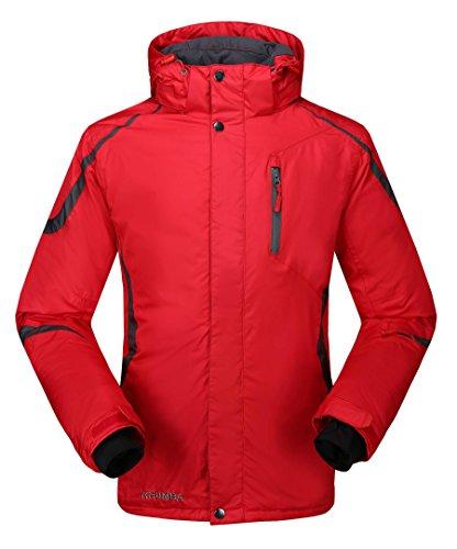 Krumba Herren Sportswear wasserdichte Winddichte Ski Jacke Rot Size L - Ski Rot Herren Jacke