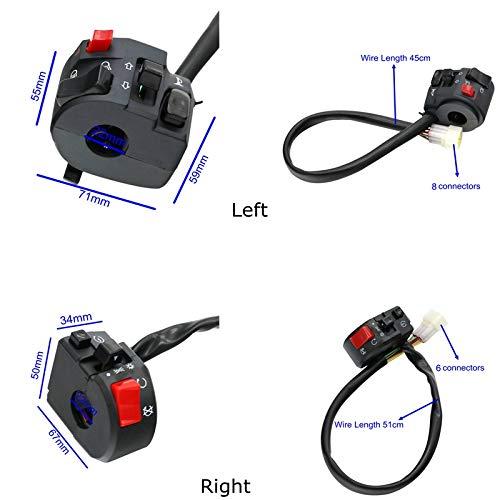 Shi Xin Fang Zhi Interruptores motocicleta moto botón