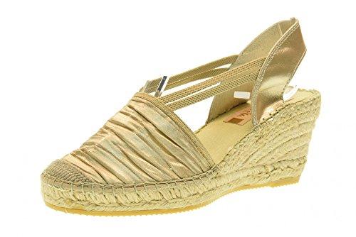 VIDORRETA scarpe donna sandali espadrillas zeppa 18400 ORO Oro