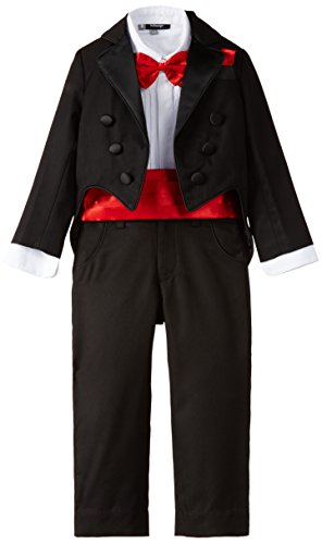 Kidology In-house Collection by Maya Nocon 6 piece Baby Boys' Dress Suit (KD/B/SS/12/S-0324 _Black_1-2 Years)
