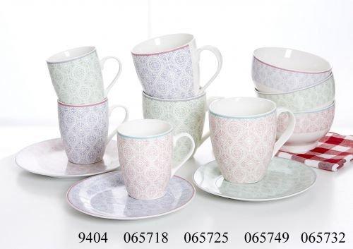 Ritzenhoff & Breker Frühstücksgeschirr Andalus Größe 3er Set Kaffeebecher 350 ml Andalus
