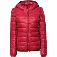 Womens/Ladies Ultra Lightweight Packable Short Down Puffer Jacket Hooded Jackets