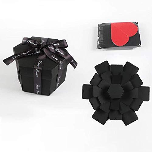 Kreativ Überraschung Explosion Kiste DIY Fotoalbum Sechseck 4-Layer 6-Sided Aufbewahrungsboxen Handgefertigt Scrapbooking Umklappbar Geburtstag Jubiläum Valentin Hochzeitsgeschenk