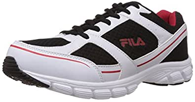Fila Men's Cadell White, Black and Red Running Shoes -11 UK/India (45 EU)