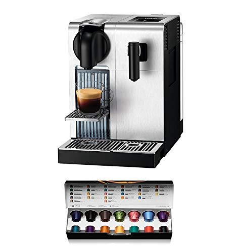 De'longhi Nespresso Lattissima Pro EN750MB - Cafetera de cápsulas, 19 bares, apagado automático, depósito de leche, pantalla táctil, color aluminio