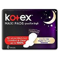 Kotex KC316 Maxi Night Time Pads, 8 Counts
