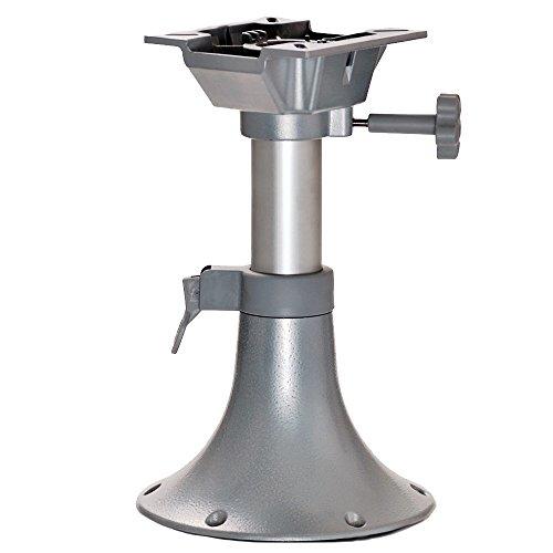 wellenshop Sockelfuß Pedestal höhenverstellbar für Bootssitz 330-435 mm