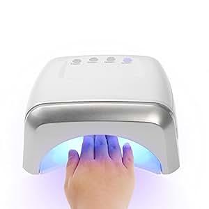Anself 60W Lampe Sèche-Ongles CCFL + LED Professionnelle pour Durcissement de Gel Shellac et Vernis