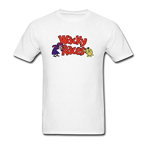 Men's Wacky Races Short Sleeve T Shirt White