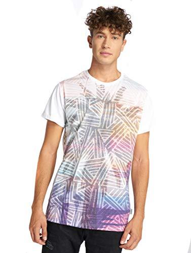 Just Rhyse Herren T-Shirt Andagua Oberrteil mit aztekischem Palmenmuster