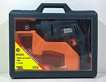 Black & Decker Taladro de Percusión 2velocidad kr502K 500W 230V Hammer Drill