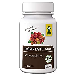 Raab Vitalfood Bio Grüner Kaffee Extrakt Kapseln mit Chlorogensäure, 48 Kapseln