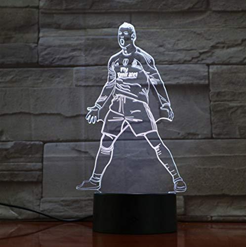 Illusion Lampe Usb 3d Led Nachtlicht Touch Sensor 7 Farbwechsel Tischlampe Nacht Fußball Licht Athlet Skulptur Lampe Geschenk