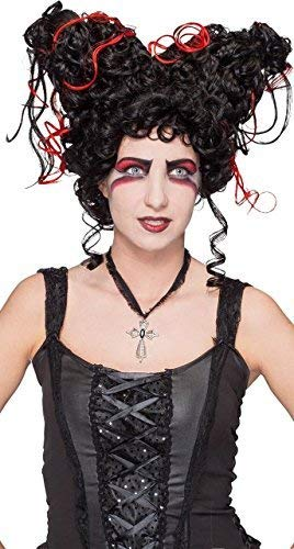 arz rot Vampire Ténebras Königin Kostüm Halloween Horror Outfit Zubehör ()