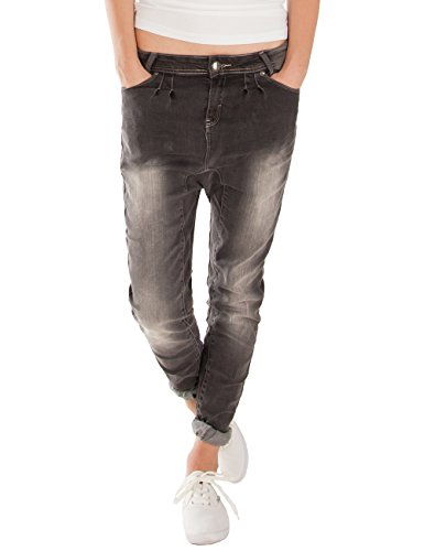 Fraternel Damen Jeans Relaxed Baggy Loose Fit Schwarz S / 36 - W28