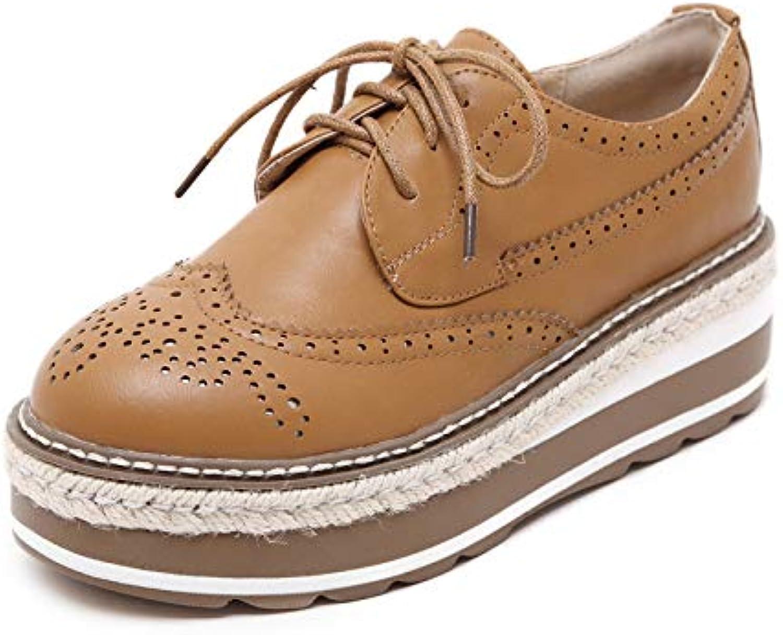 TZQ Donne, Scarpe da Ginnastica, Scarpe di Cuoio, Inghilterra, Retro, Pan di Spagna, Scarpe Basse, Piattaforma... | durabilità  | Uomo/Donna Scarpa