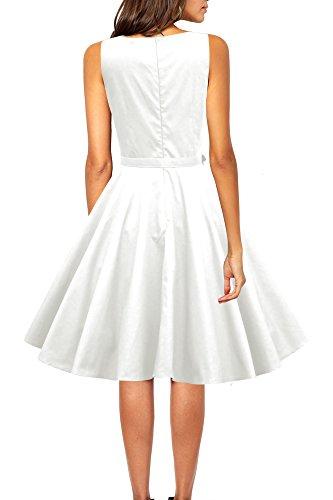 Black Butterfly 'Audrey' Vintage Clarity Kleid im 50er-Jahre-Stil (Elfenbein, EUR 54 - 6XL) -