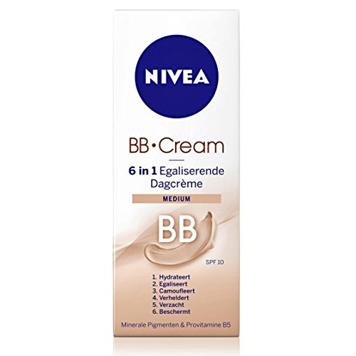 NIVEA VISAGE BB Creme 6 IN 1 Glättung Tagescreme MEDIUM TUBE 50 ML