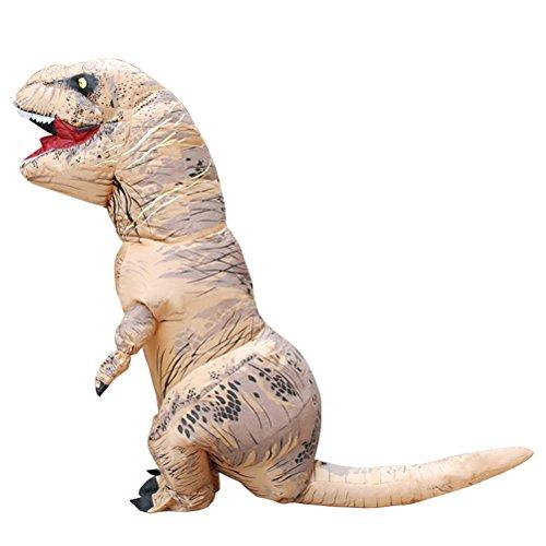 lasbare Dinosaurier Kostüm Halloween Cosplay Phantasie Party Kleid (braun) (Kreative Paar Kostüme Für Halloween)