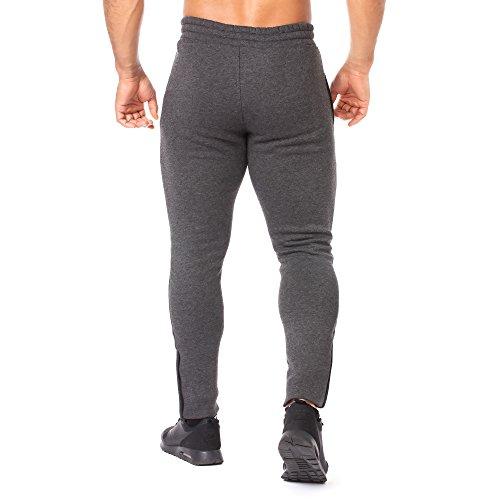 SMILODOX Slim Fit Herren Jogginghose 'Dynamic 2.0' | Trainingshose für Sport Fitness Gym & Freizeit | Sporthose - Jogger Pants - Sweatpants Hosen - Freizeithose Lang Anthrazit/Grau