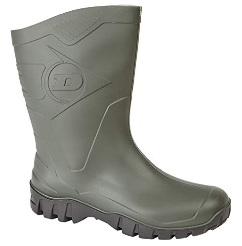 Dunlop Womens Short Half Length Ankle Wellington Wellies Boots Wide Calf UK 4-9