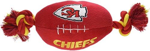 Pets First NFL Fußball Spielzeug–Hund Seil Fußball Spielzeug–Seil Hundespielzeug–Plüsch Tier Spielzeug (Chiefs Kansas Spielzeug City)