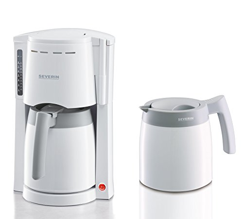 Severin KA 9233 Kaffeeautomat mit 2 Thermokannen, weiß / grau (Thermo Kaffeemaschine)
