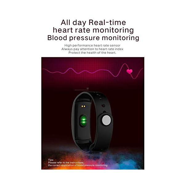 DokFin Pulseras Inteligentes, Fitness Tracker HR con Monitor de Ritmo cardíaco Reloj Rastreador de Actividad Reloj con… 6