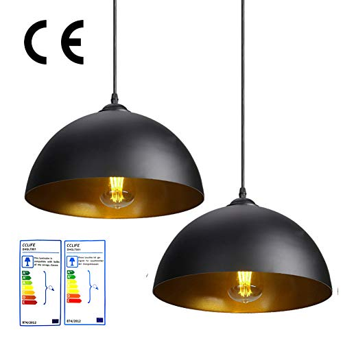 CCLIFE 1er 2er Industrielle Pendelleuchte Hängeleuchte Metall -