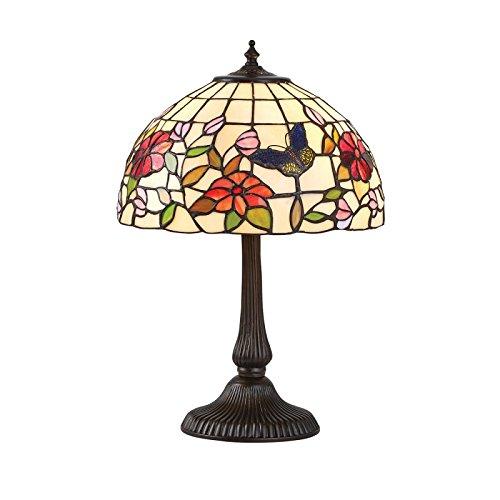 Schmetterling Kleine Tiffany Stil Tischlampe - Interiors 1900 63998 (Bronze Schmetterling Tischlampe)