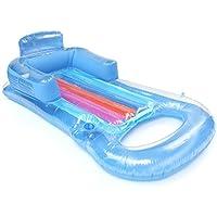 BaBaSM Praktisch Aufblasbarer Swimmingpool-Lehnsessel, transparentes PVC-aufblasbares Boots-erwachsenes sich hin- und herbewegendes Wasser-Bett-Strand-Wasser-Pool-Sofa-Lehnsessel-Wasser-Spielzeug-Last