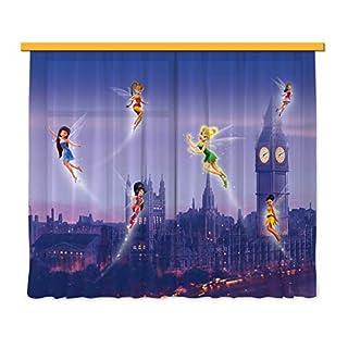 Gardine/Vorhang FCS xl 4314 Kinderzimmer Disney Fairies