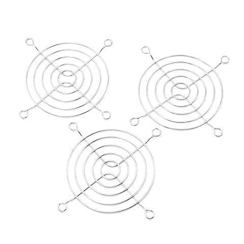 sourcingmap® 3 Stücke 80mm 8cm Kühler Lüfter Abdeckung Finger Grill für PC Gehäuse