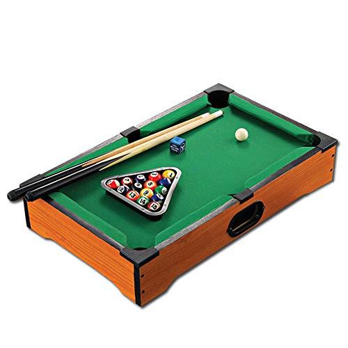 LEERAIN Mini Tisch-Pool-Billard, Hölzern Snooker-Spiel, Familie Tischbillard Für Kinder Kinder 2 Mini Queues, 15 Farbige Billardkugeln, 1 Weiße Queuekugel, Dreieck & Kreide (Anfänger Pool-tisch)