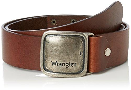 Wrangler CTF Kabel Logo, Cintura Uomo, Marrone (Brown), 105(UK)